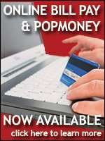Online Bill Pay and POPmoney now available!